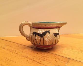 Authentic Vintage Deruta Pottery Pitcher/Creamer