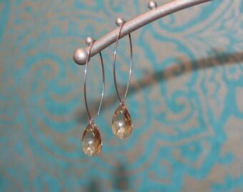 Champagne Swarovski Earrings