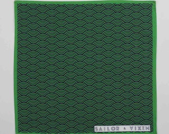 Green Tenby Pocket Square
