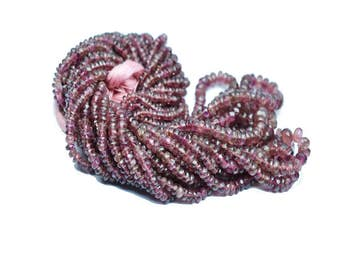 AAA quality Pink TOURMALINE faceted \ 8 inch strand approx