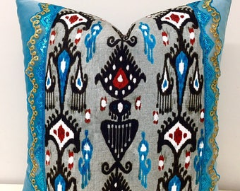 Turquoise Velvet Pillow Cover, Pillow, Velvet Pillow, Turquoise Pillow, Luxury Pillows, Throw Pillow, Turquoise Sofa Velvet Cushion Pillows