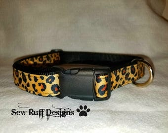 Large Leopard Dog Collar