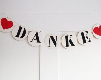 "Garland ""thank you"" vintage look"