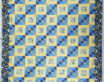 """Stately Quilt Top 74"""" x 90"""""""