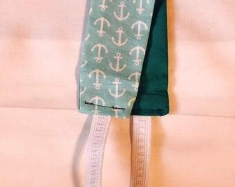 Anchors/Teal Reversible Headband