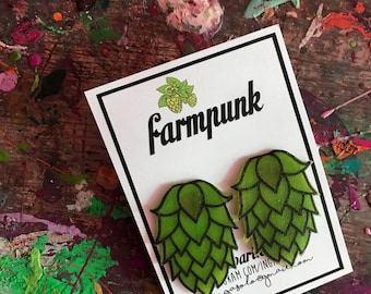 hop darling.  Farmpunk stud hop earrings for while you are drinking your jollies this summer....