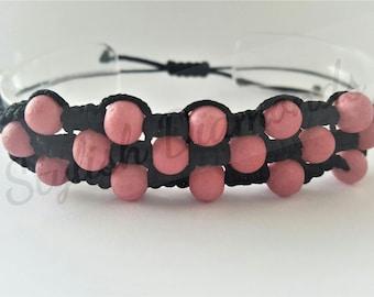 Macrame Bracelet Handmade Glass Beads