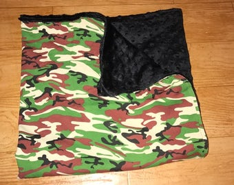 Camo Minky Baby Blanket