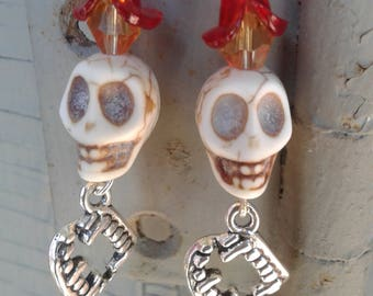 Gothic Day of the Dead Skull Earrings