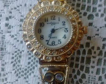 LA exress mother of pearl ladies wrist watch