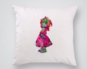 Little lady Pillow Cover Throw Pillow Home Decor