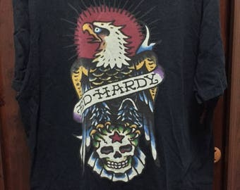 ED HARDY by Christian Audigier Eagle Pirate TShirt Large Made in USA