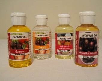 Incense Warming Oils A-F For Burning Fragrances Into The Air - You Choose Fragrance And Size