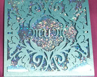 sparkly Mothering Sunday card