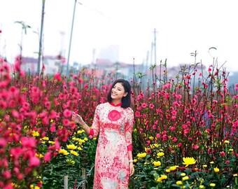 Pink flowery patterns