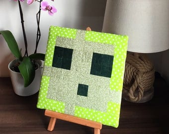 Minecraft Inspired Patchwork Wall Art - Slime
