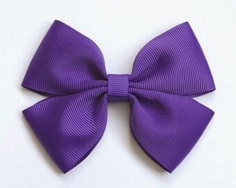 Regal Purple Colour Hair Bow