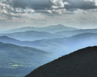 Vermont Mountains from top of Jay Peak
