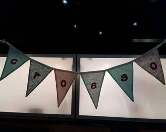 Croeso Welsh hanging bunting