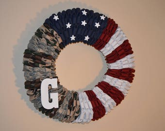 Military Uniform Hanging Wreath