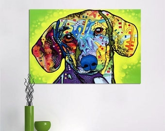Canvas Print Wall Art Paintings For Home Decor Dachshund Print on Canvas For Living Room &office No Frame
