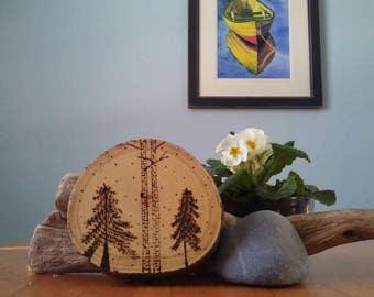 Wood Burned Round