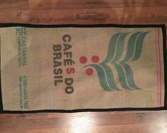 Coffee bag floor mat