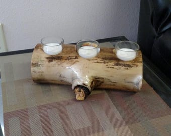 Aspen candle holder