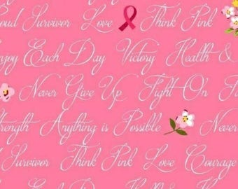 Anything is possible - Think Pink - fabric