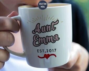 New Aunt Mug, Aunt Coffee Mug, Aunt Mug, Pregnancy Baby Reveal Mug, aunt to be mug, new aunt, Promoted to Aunt, Auntie Mug, New Aunt Gift