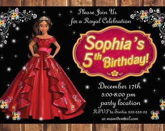 Elena of Avalor Invitation, Princess Elena birthday invitation, Elena of Avalor Birthday Invitation, Disney Princess Elena Birthday Party