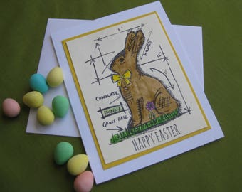 Handmade Happy Easter Card with Bunny