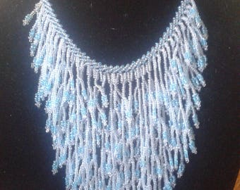 Hand Beaded Fringe Necklace