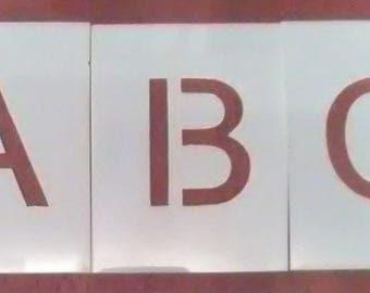 5 inch Arial Alphabet Stencil