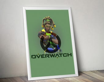 Overwatch LÚCIO Poster, Game Poster, Flat Print Design, Digital Printable Poster, Blizzard wall art, Instant Download, game art