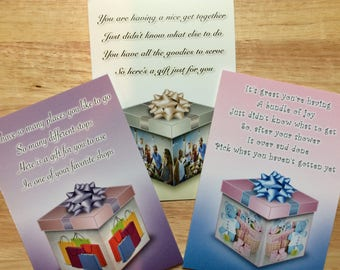 For Her Gift Card holders. SET OF 3. Birthday gifts. Shopping gift card holder. Baby shower gift card holder. Hostess gift card holder.