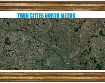 Very large highly detailed poster of the Twin Cities North Metro