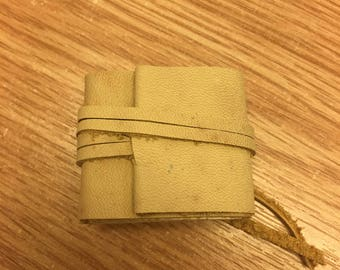 Miniature, Hand Made, Leather Bound Book.