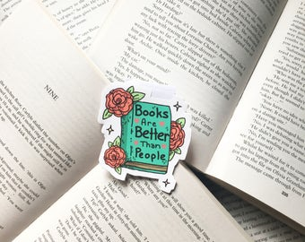 Book bookmark / Large bookmark / Quote bookmark / Gift idea / Bookish / Magnetic bookmark