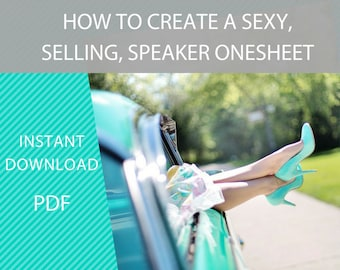 How to Create a Sexy, Selling Speaker Onesheet, - Motivational speaker, speaker onepager, flyers, professional speaker, marketing material,