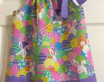 Girls Easter Sparkle Pillowcase Dress Size 2T