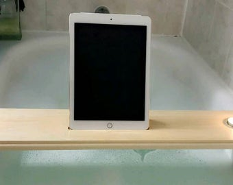 Bath tray, small candle holder, bath caddy, iPad holder, candle holder, iPhone stand.