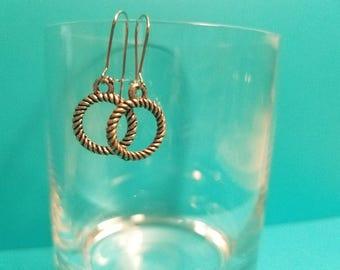 Silver Wreath Handmade Earrings