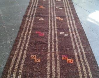 Runner Rug Oushak Rug,Vintage Turkish Runner Rug,Home living,2x10Ft,Naturel brawn colors,office decor,rug,carpet,runner rug,