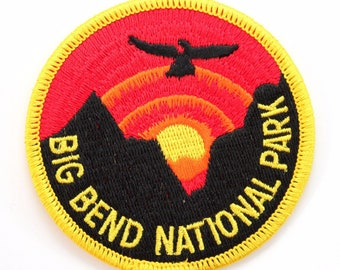 Official Big Bend National Park Souvenir Patch Texas Chihuahuan Desert Scrapbooking FREE SHIPPING