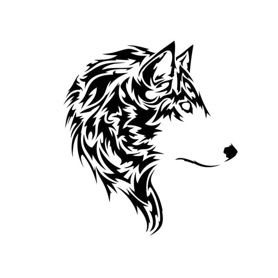 Tattoo Designs Pdf: Tribal Wolf Head Graphics SVG Dxf EPS Png Cdr Ai Pdf Vector