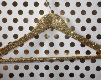 Set of 4 Glittered Handmade Hangers | Glam Home | Bridesmaid Gifts | Wedding Gifts | Gifts for Her