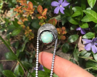 Sterling Silver and Turquoise hair pin