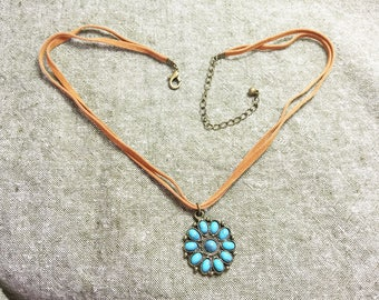 Vintage Boho Necklace/ Hippie/ Free People Style Necklace/ Southwestern Style Necklace/ Arizona Sedona New Mexico