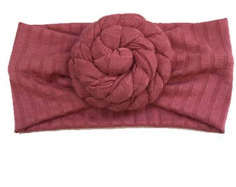 Rose knot headbands